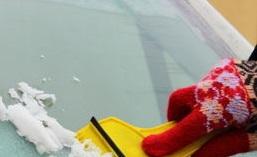 quitar hielo de parabrisas