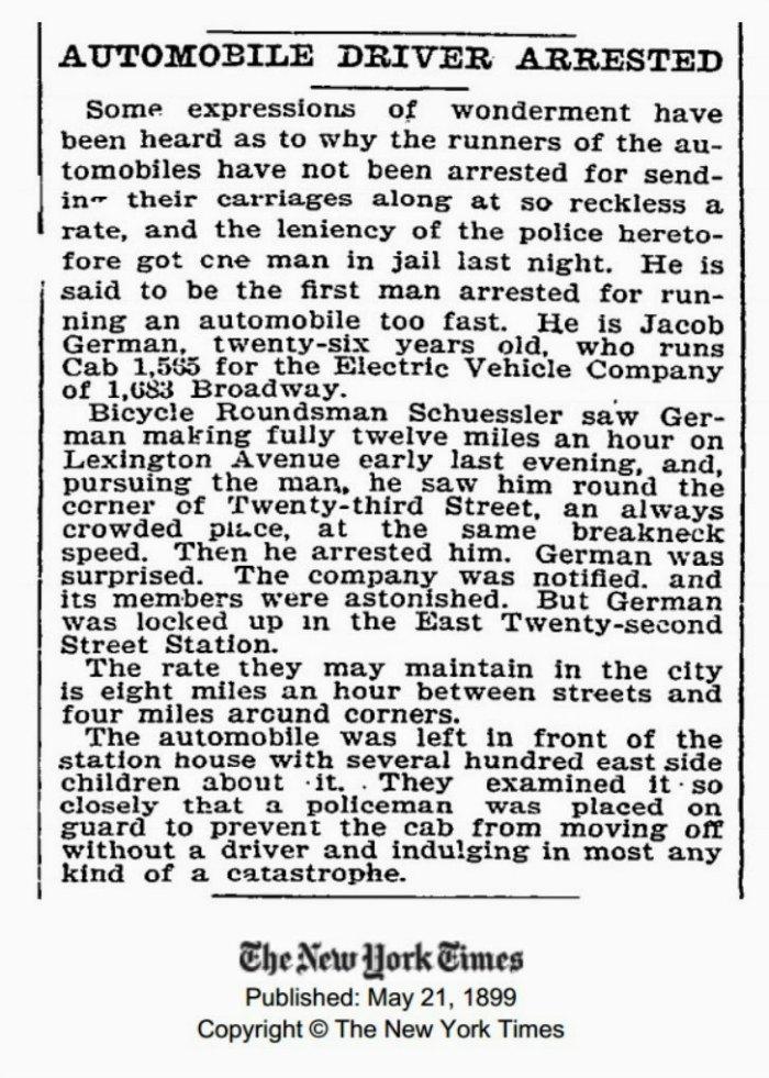 primera multa 1899